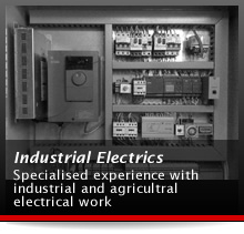 Industrial Electrics - Specialised experience with industrial and agricultral electrical work